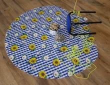 Blumen und Tapet